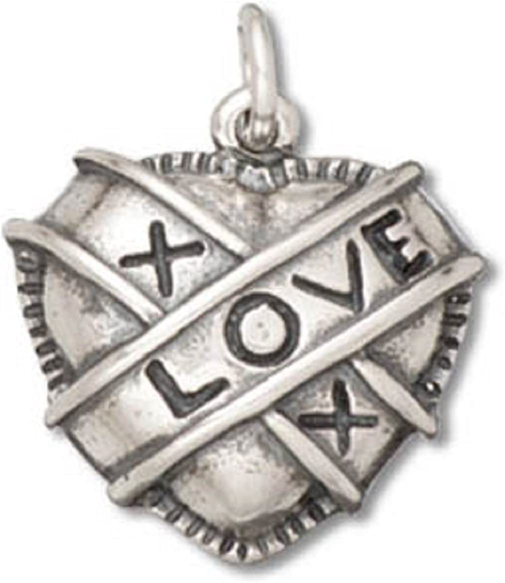 Sterling Silver Girls .8mm Box Chain I LOVE MUSIC Pendant Necklace