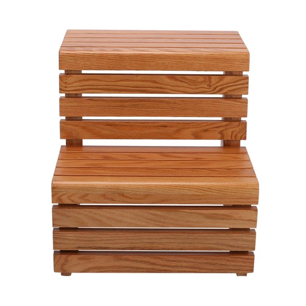 TH 2層階段、階段スツールソリッドウッド、靴ベンチバスタブバレルステップスツール階段、多機能ベンチ、家庭用フットスツール (色 : Style-3) B07F1MKNQX Style-3 Style-3