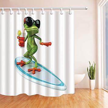 GoHEBE Wildtiere Duschvorhang für Badezimmer, lustiges red-eyes ...