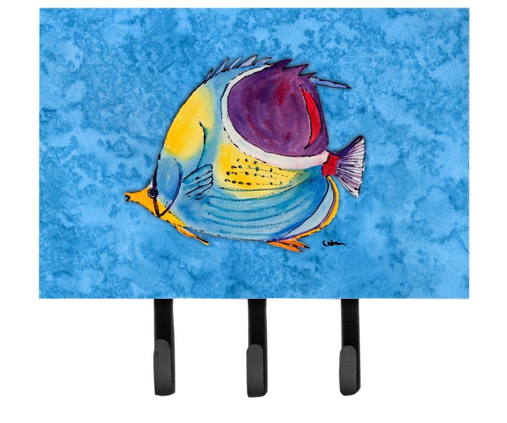 Multicolor Large Carolines Treasures 8676TH68 Tropical Fish Leash or Key Holder