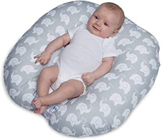 Transser Newborn Lounger, Ultra-Comfortable Nest for Babies, Portable Cotton and Breathable, Perfect for Co-Sleeping, Cute Elephant (White)