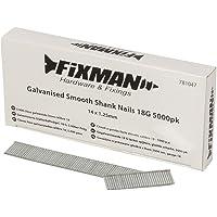 Fixman 781047 Gegalvaniseerde gladde schacht nagels 18G 1.25 x 14mm - Pack van 5000