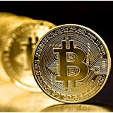 Ms.0 ビットコイン まとめて 10枚セット BTC BitCoin 仮想通貨 (ゴールド) オリジナルコイン入れポーチ付き