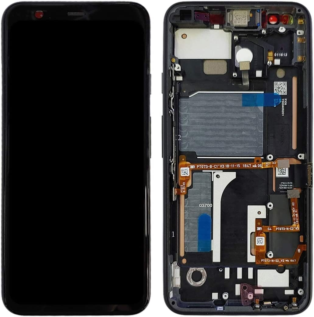 Black ATDA AYSMG LCD Screen and Digitizer Full Assembly with Frame for Google Pixel 4 Color : Black