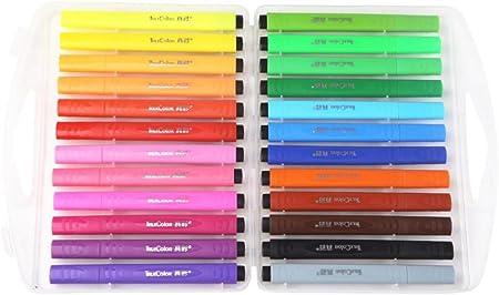 Black Temptation 24 lápices de Acuarela de Colores con Estuche para Pintar: Amazon.es: Hogar