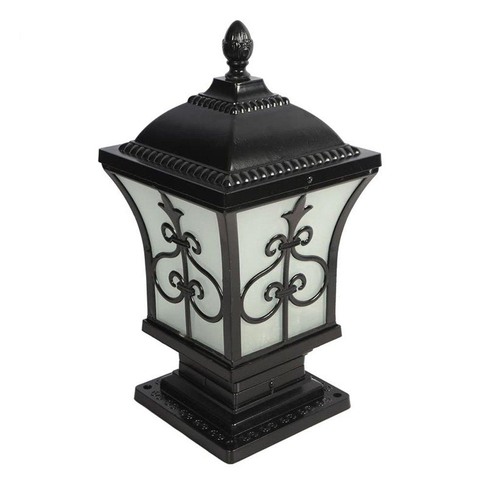 Neixy - 屋外防水壁の景色の列のヘッドライトのランタンユニークな創造的な人格の柱の照明の外観ヨーロッパのアルミヴィラの庭の入り口プールのエッジの結婚式のポストライトの装飾 (Color : Black 3, サイズ : 32cm) B07DDGCMMZ 16925 32cm|Black 3 Black 3 32cm