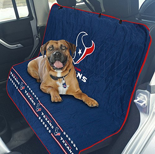 Pets First NFL CAR SEAT Cover - Houston Texans Waterproof, Non-Slip Best Football Licensed PET SEAT Cover for Dogs & Cats.