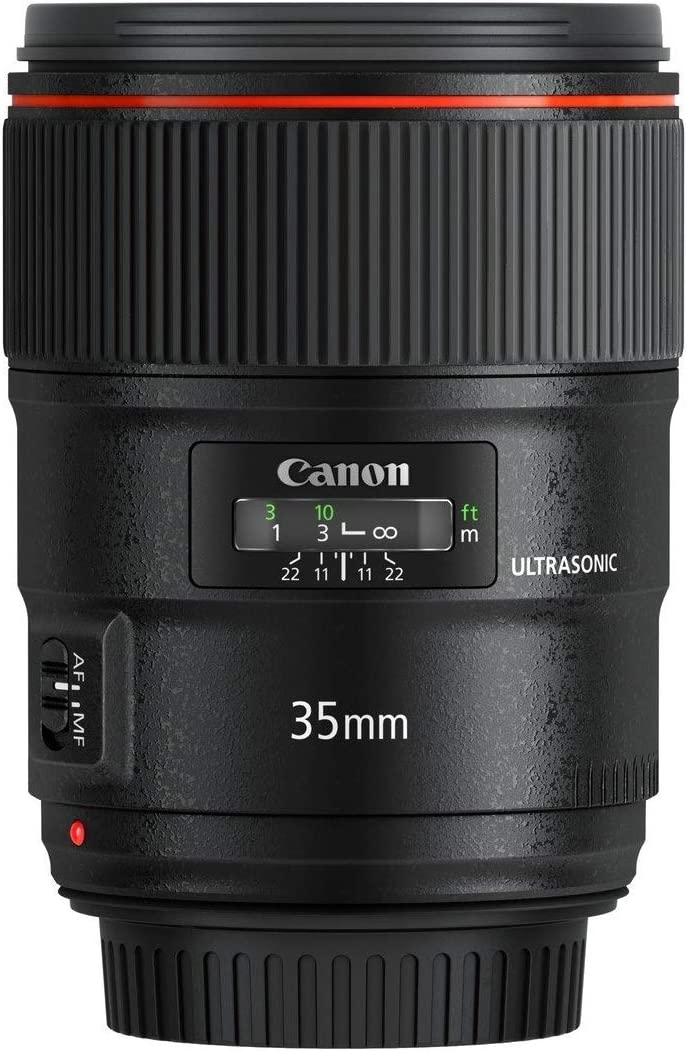 Canon simply focus, lens EF35mm F1.4L II USM full size support