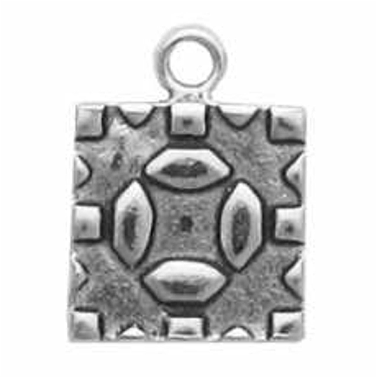 Sterling Silver Womens 1mm Box Chain 3D Mushrooms Patchwork Embroidery Quilt Comforter Pendant Necklace