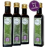BIO Hanföl Hanfsamenöl Speisehanf BIOMOND a 250 ml / AKTION 3 plus 1 / 1 Flasche GRATIS / Rohkostqualität / 100% Bio Speisehanf