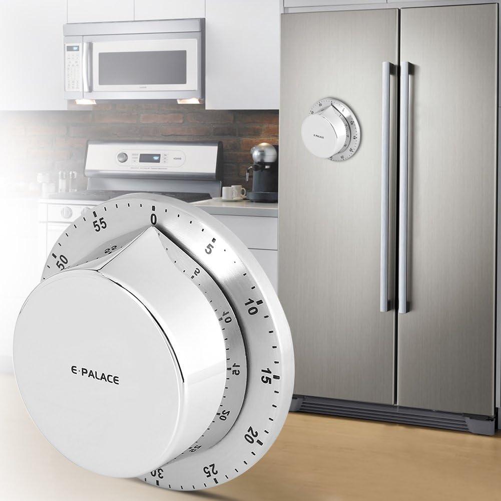 DERCLIVE Timer da Cucina Timer da Cucina Meccanico da 60 Minuti con Forte Allarme per La Cottura Delle Uova Timer per La Doccia di Cottura E Promemoria per Il Conto Alla Rovescia
