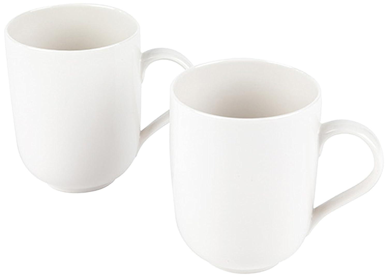 Alessi 1110306 La Bella Tavola Porcelain Mugs, Set of 2 Others
