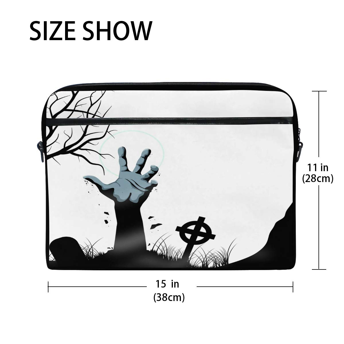 97be8d6a05f Amazon.com  Laptop Computer Bag Scary Halloween Notebook Shoulder Messenger  Cases Packs for Women Men (15-15.4 in)  Computers   Accessories
