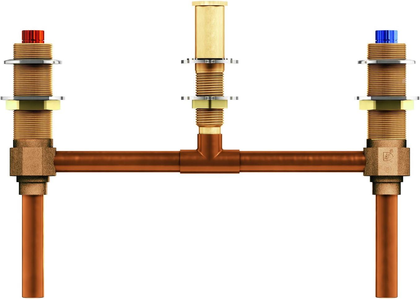 Moen 4796 Two Handle Roman Tub Valve 10-Inch Center 1//2-Inch CC Connection