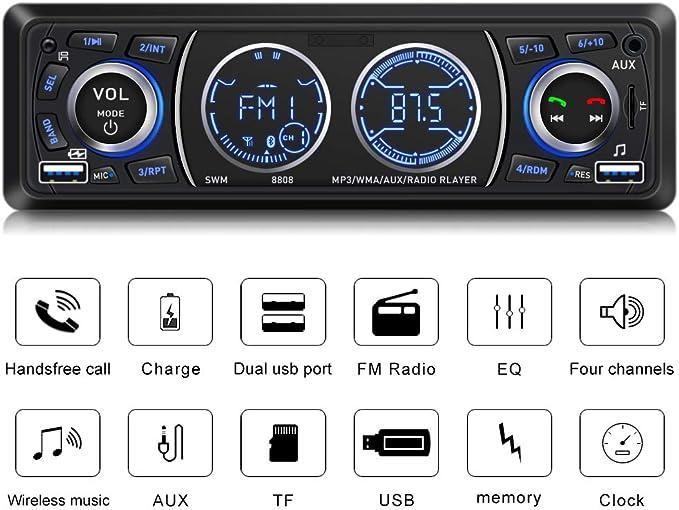 Car Radio Mp3 Player USB/SD/AUX-in/FM Radio Receiver 7 Colors +32G ...