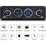 Car Stereo with Bluetooth Single Din Car Stereo Car Radio Car Audio Player Support Phone Fast Charge USB SD Card AUX in with