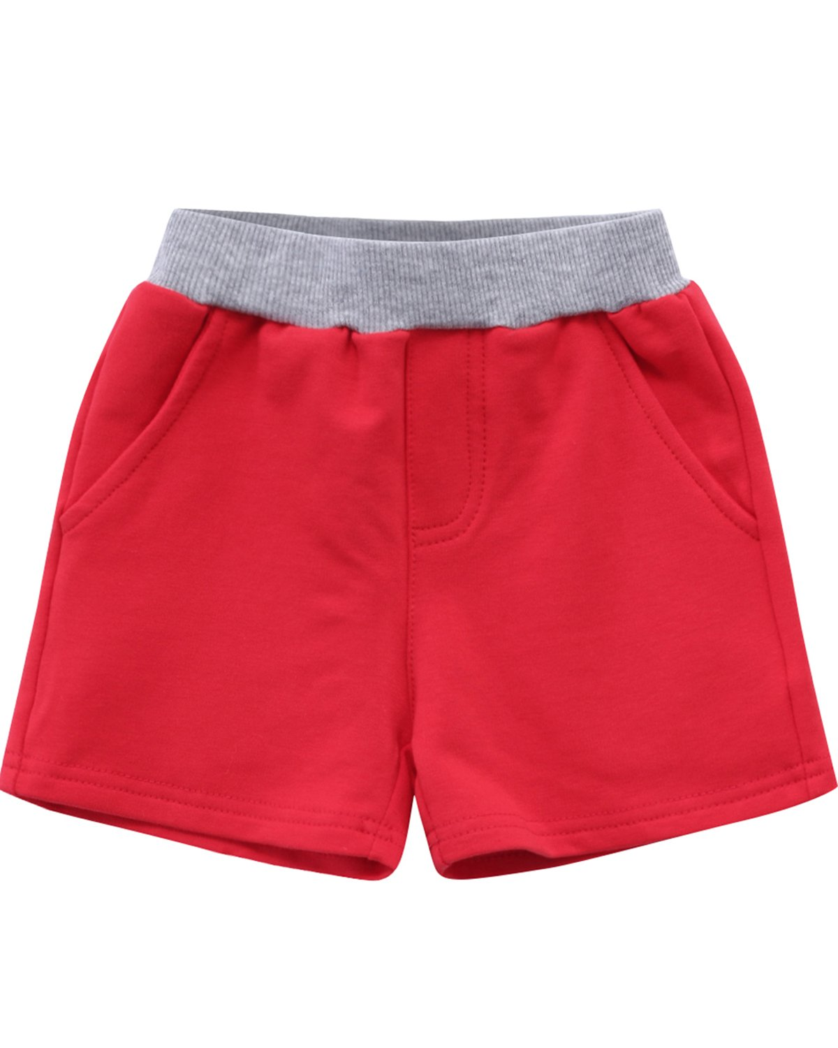 Kidsform Baby Shorts Childrens Short Pants Cotton Sports Pants with Pocket Summer Trunks 1-5 Years KIDSFORMyonnciiuk8845