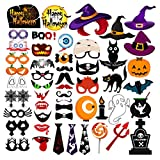 Description  The 53pcs HAPPY HALLOWEEN Photo Booth Props have special cool designs, very impressive patterns, and high quality. It right for any crowd, hope our goods leave happy memories for you! Features - Brand: Oarkive - Material: Pape...