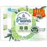 エリエール Puana(ピュアナ)【無添加】ウエットティシュー 除菌ノンアルコールタイプ つめかえ用 141枚(47枚×3P)