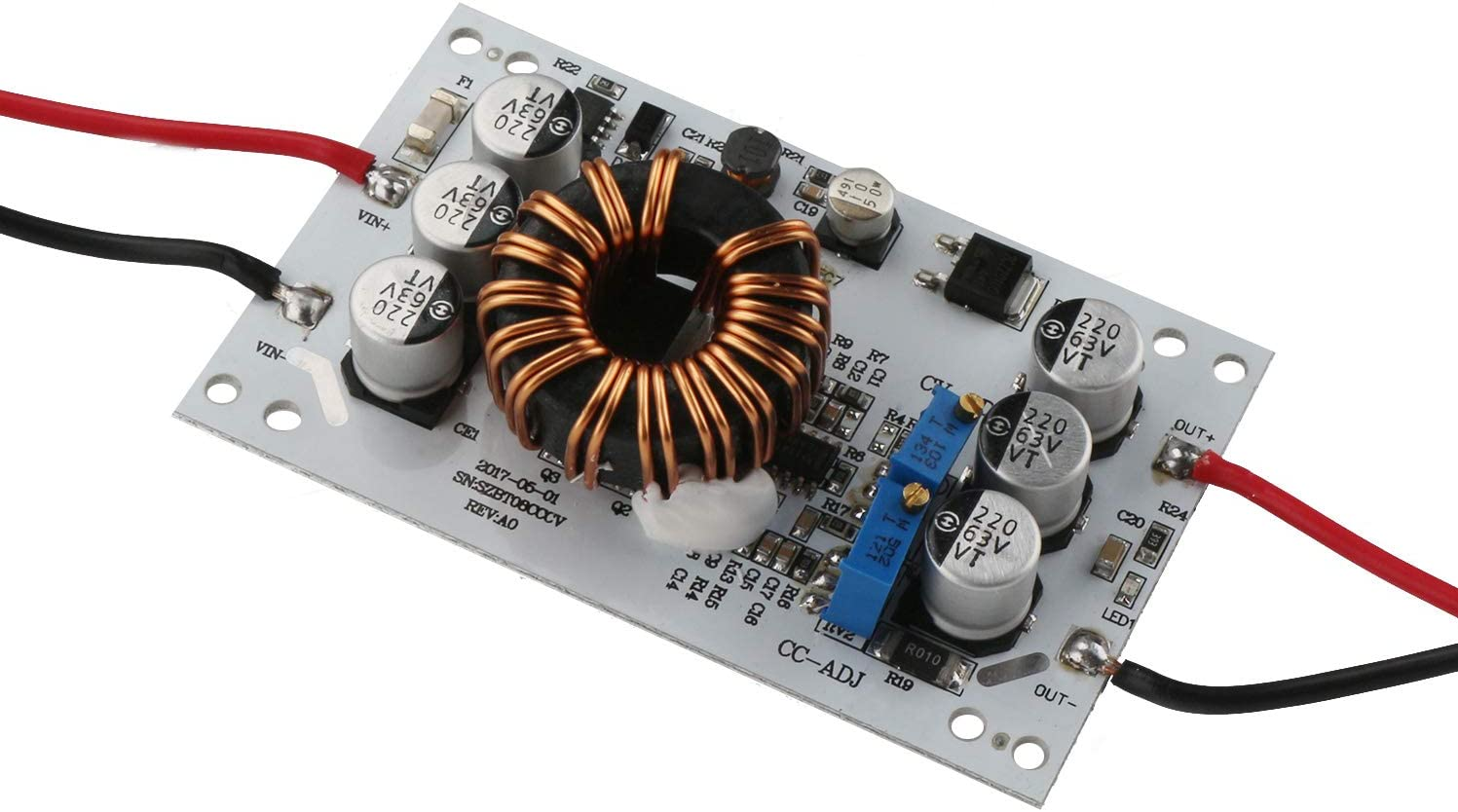 Convertitore step-up di tensione da DC10-32 V a CC 12-60 V modulo di alimentazione ad alta efficienza con migliore dissipazione del calore