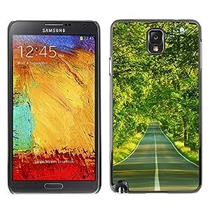 TopCaseStore / la caja del caucho duro de la cubierta de protección de la piel - Spring Drive Freedom Green Trees - Samsung Galaxy Note 3 N9000 N9002 N9005