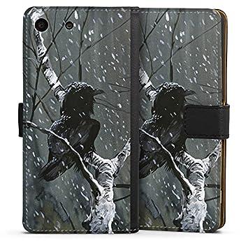 Sony Xperia M5 Slim Case Carcasa de silicona Cuervo Bosque ...