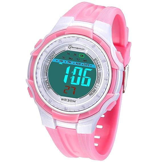 Reloj Niños Digital Deportivo con Pantalla LED Relojes Infantil de Pulsera para Niñas Resistencia al Agua 30M Reloj Infantil Aprendizaje para Niños ...