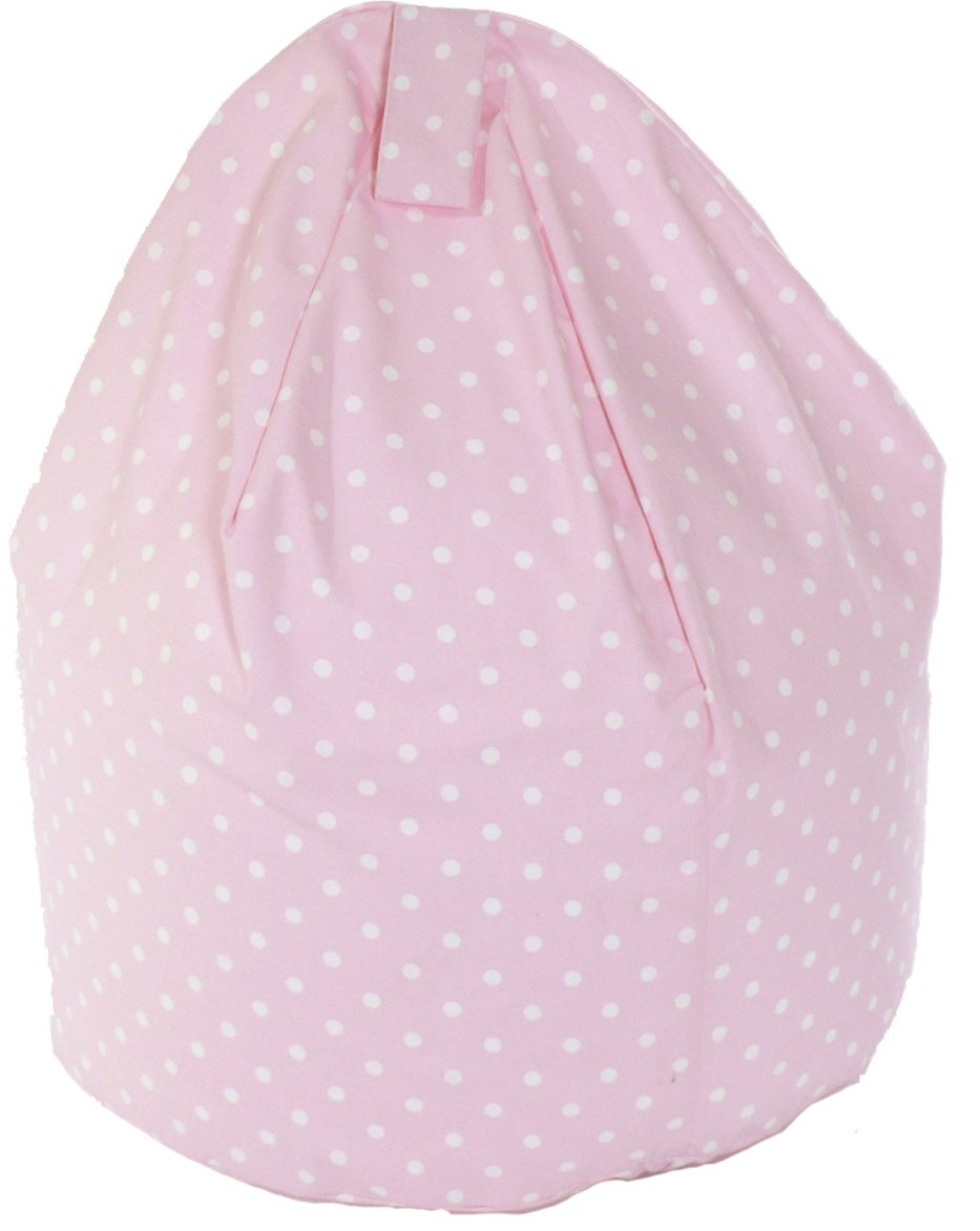 Child Size Pink Spots Bean Bag With Beans BeanLazy