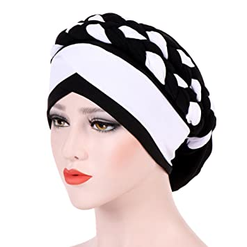 7594ef4435d Amazon.com  Double Braid Turban Cap for Women