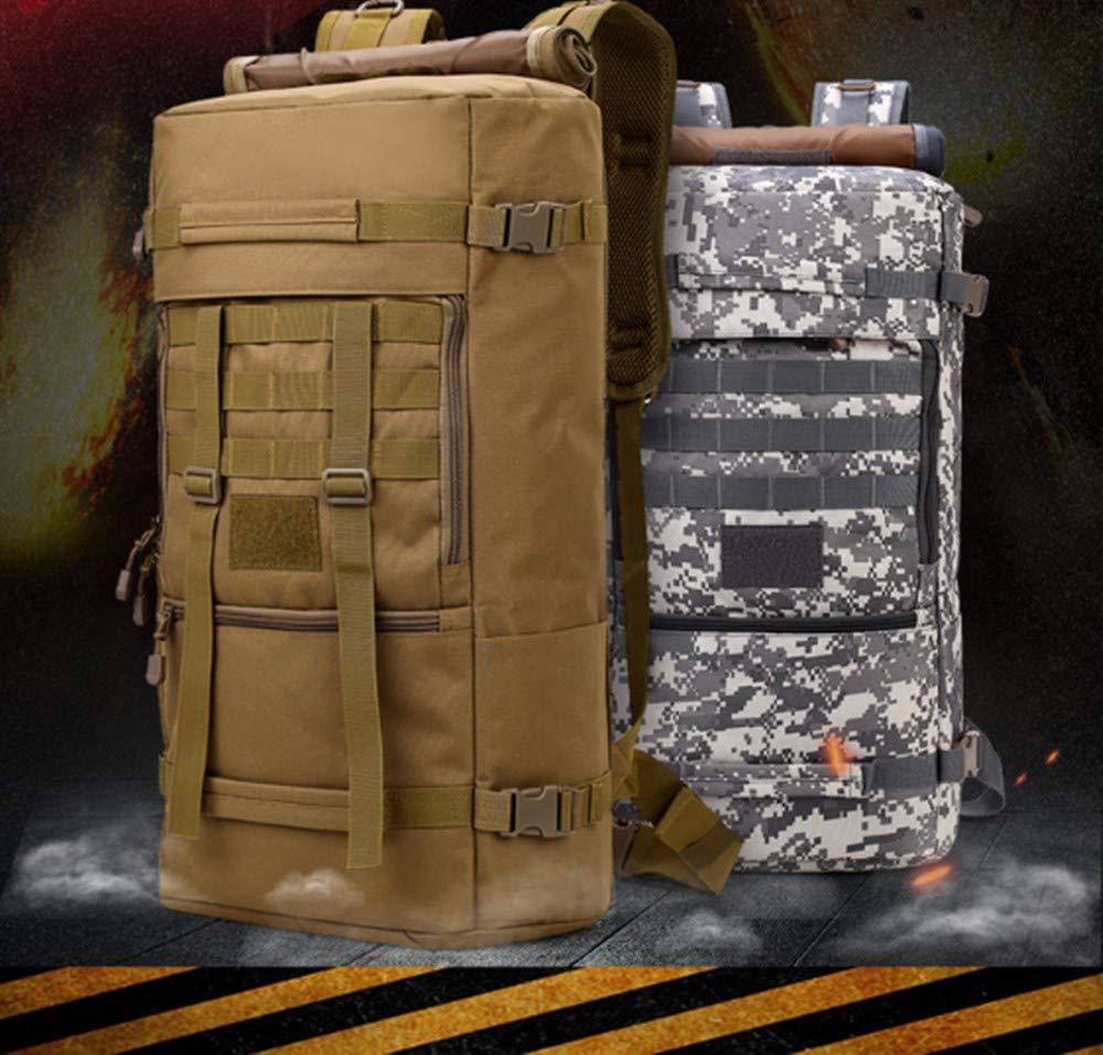 Chunsu 50L Hiking Backpack Camping Bag Army Military Tactical Rucksack Camo Trekking Large Bags(ACU Digital)