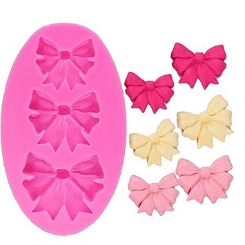 Molde de silicona con diseño de lazos de Anlin, para decoración de tartas de boda, azúcar, manualidades, molde de silicona para tartas: Amazon.es: Hogar