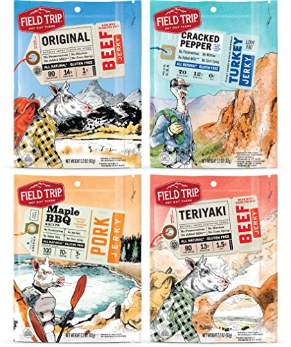 Field Trip All Natural Jerky, Variety Pack, 2.2 Ounce, 4 (Turkey Teriyaki Marinade)