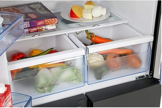 Hisense rq560 N4wb1 cuatro puerta americano frigorífico congelador ...