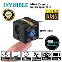 LITEBEE SQ11 1080P Mini Camera, Camera Sport Cam, HD Camcorder Night Vision Miniature Camera, Hidden Camera (FOV140, Miniature Camera) Mini DV Video Recorder for Home Security Surveillance by (Black)