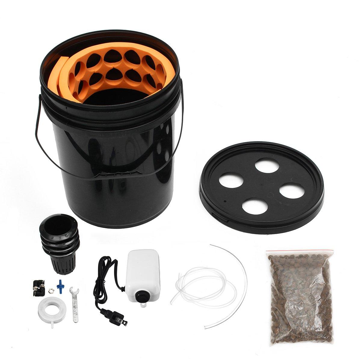 EsportsMJJ 4 Löcher Hydrokultur Eimer System Oxy Pot Bubbler Dwc Tiefwasser Kultur Growing Box Kit