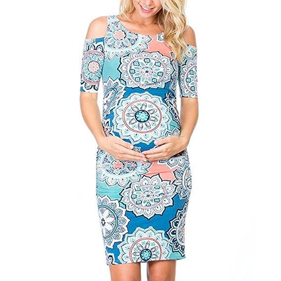 K-youth Vestido Embarazada Vestido para Mujeres Embarazadas Vestidos Premama Verano Vestido Fotos Embarazada Vestidos