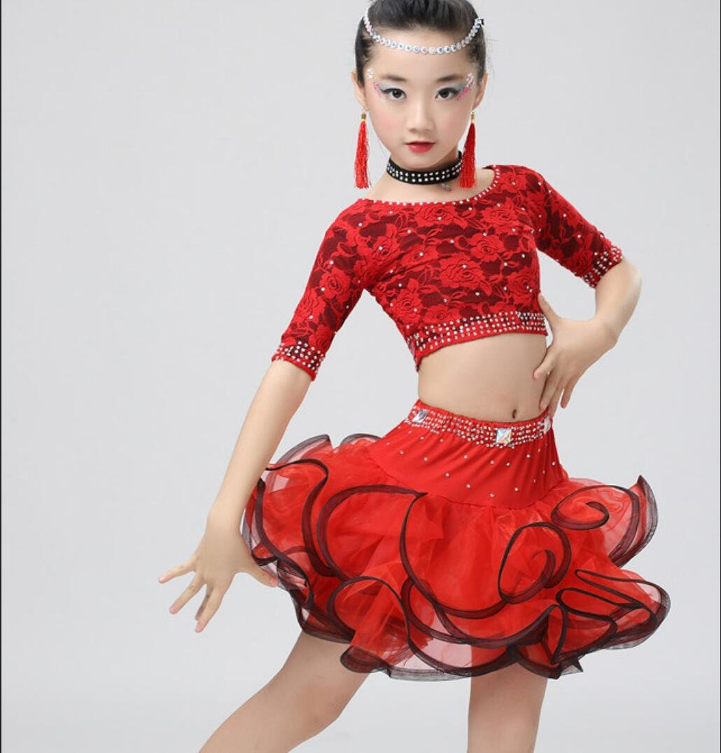 Children\'s Latin Dance Costume Children\'s Girls Latin Dance Dress ...