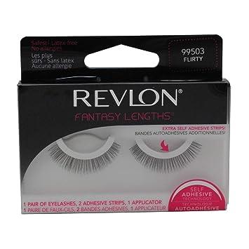 3bdd995cdfb Amazon.com : Revlon Fantasy Lengths Self Adhesive Lashes, Flirty.56 Ounce : Fake  Eyelashes And Adhesives : Beauty