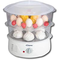 PowerPac Electric Food Steamer, White, 6L, PPE707