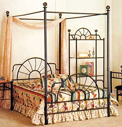 Image Unavailable. Image not available for. Color Full Size Canopy Bed  sc 1 st  Amazon.com & Amazon.com: Full Size Canopy Bed: Kitchen u0026 Dining
