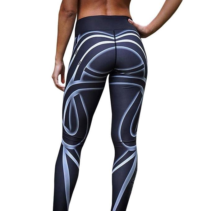 Yogogo Damen 3 4 Yoga Leggings Hose Mittlere Taille Pants   Trainingshose  Hosen   Bleistifthosen fca268a56d