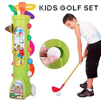 13 Piezas Juego Club Golf para Niños - 1 Carrito Golf con ...