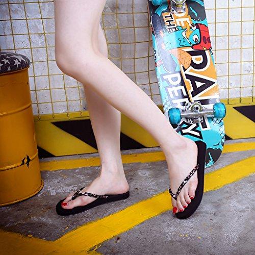 Sandalias de Mujer Beach Lamdoo EVA Flip Summer Mujer Zapatillas Marrón Chanclas Negro Sandalias 36 Marrón 40 Flops Planas 8Xzz1wx