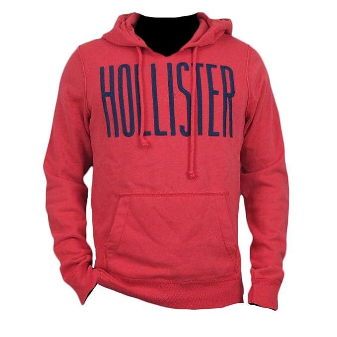 Hollister hombre redondo sudadera con capucha forro polar sudadera con capucha (322 - 221 - 0121 - 011) rojo rosso S: Amazon.es: Ropa y accesorios