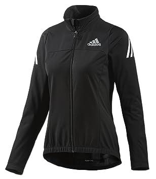 adidas Damen Supernova Cycling Jacke Climawarm Softshell Radjacke  (schwarz-Silber, XS) de38358238