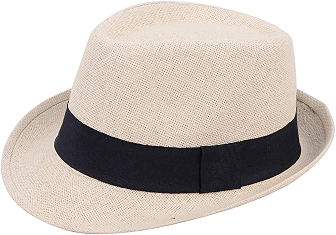 Fashion Straw Hat  Panama Cap Trilby Summer Sun Beach Fedora  Men Ladies ^C