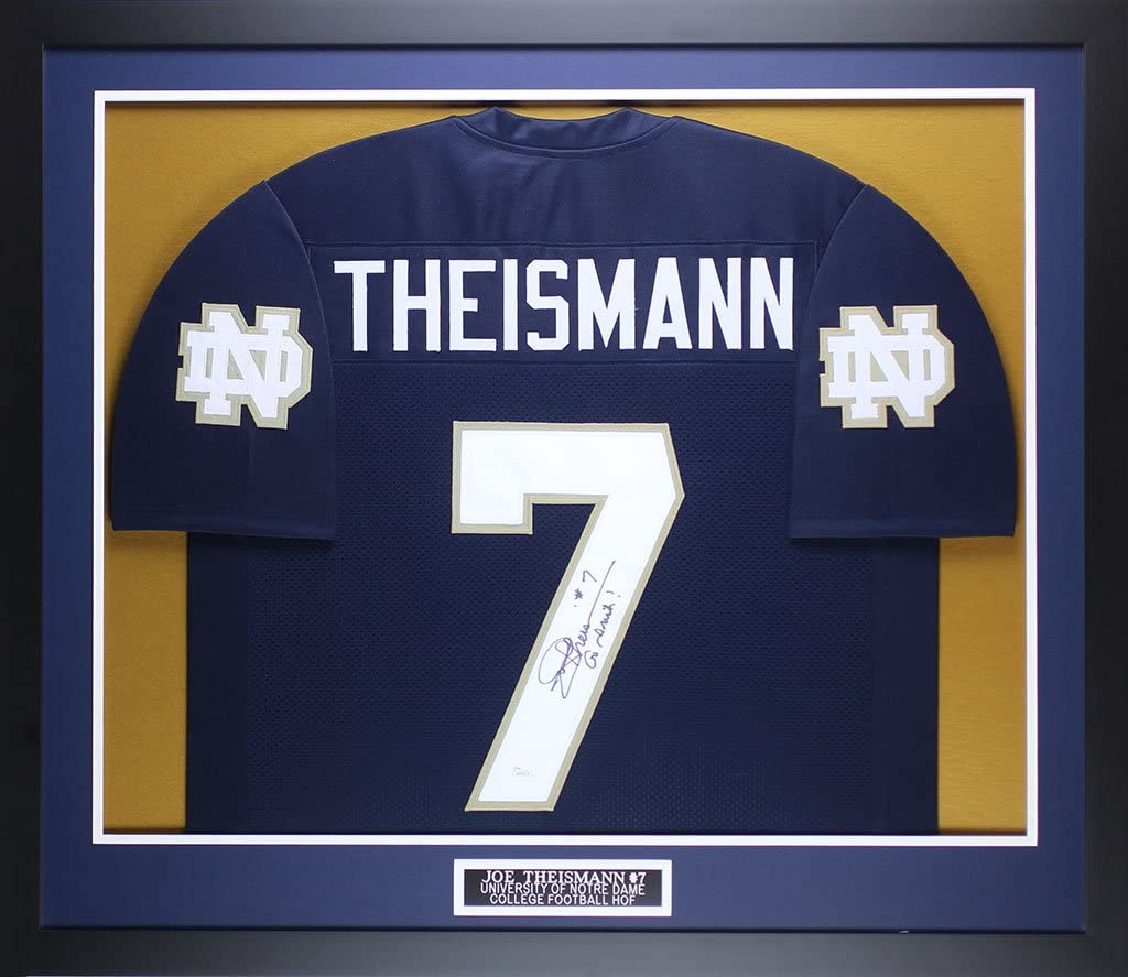 Amazon.com: Joe Theismann Autographed Navy Notre Dame Jersey ...