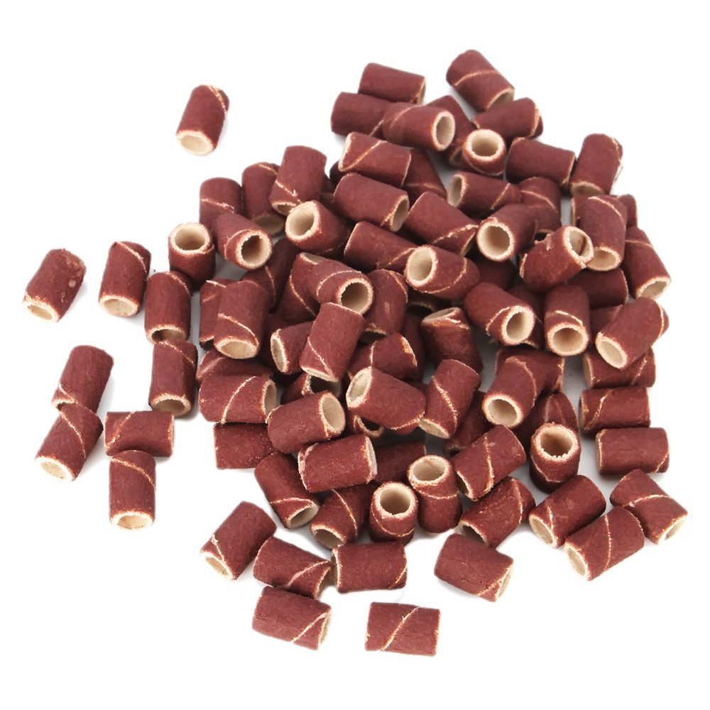 100pcs Sanding Bands for Nail Drill Bits Manicure 80# So Beauty