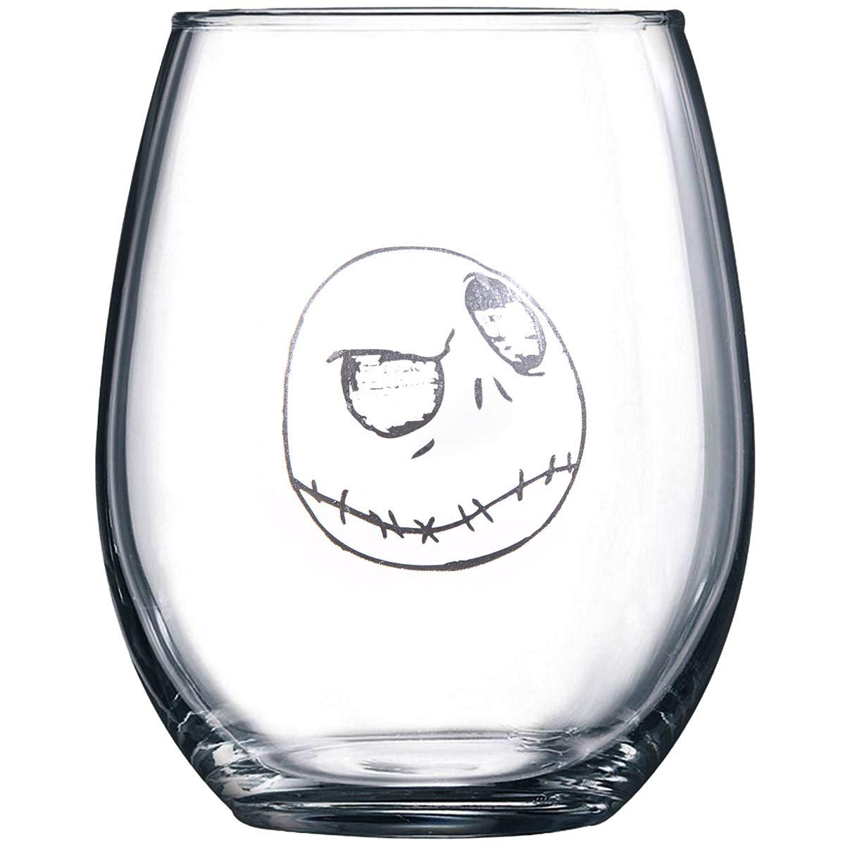 Nightmare Before Christmas Collectible Wine Glass Set (Jack & Jack ...