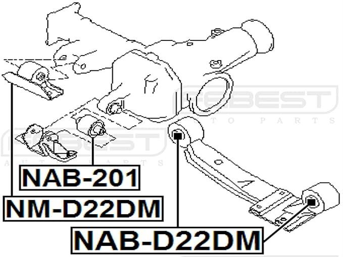 Amazon Com Febest Nab D22dm Rear Differential Mount Arm Bushing